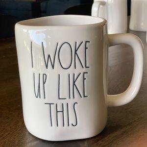 Rae Dunn 'I WOKE UP LIKE THIS' mug